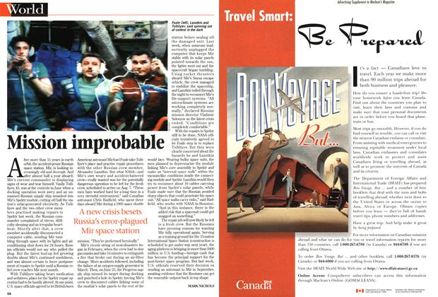 Article Preview: Mission improbable, July 1997 | Maclean's