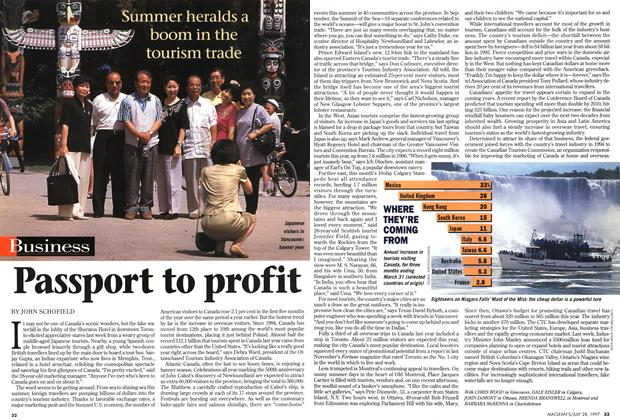Article Preview: Passport to profit, July 1997 | Maclean's