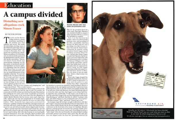 Article Preview: A campus divided, July 1997 | Maclean's