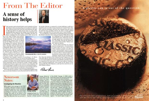 Article Preview: A sense of history helps, July 1997 | Maclean's