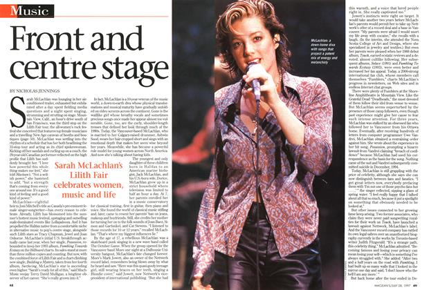 Article Preview: Front and centre stage, July 1997 | Maclean's