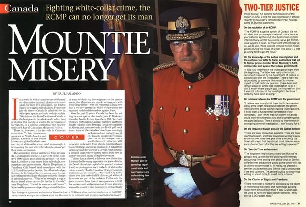 Article Preview: MOUNTIE MISERY, July 1997 | Maclean's