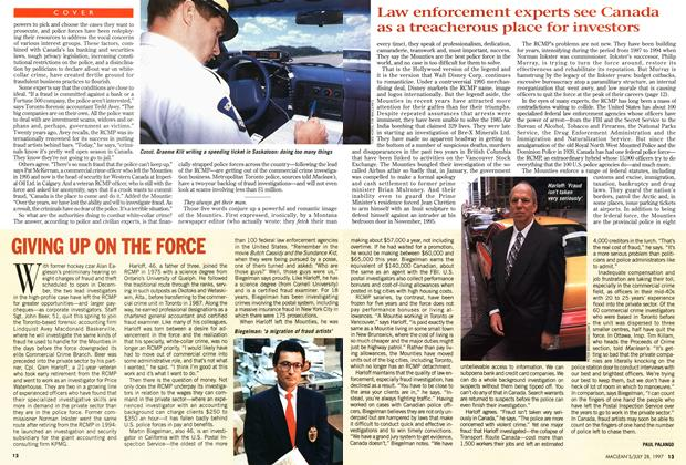 Article Preview: GIVING UP ON THE FORCE, July 1997 | Maclean's