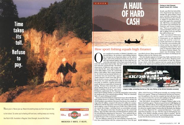 Article Preview: A HAUL OF HARD CASH, August 1997 | Maclean's