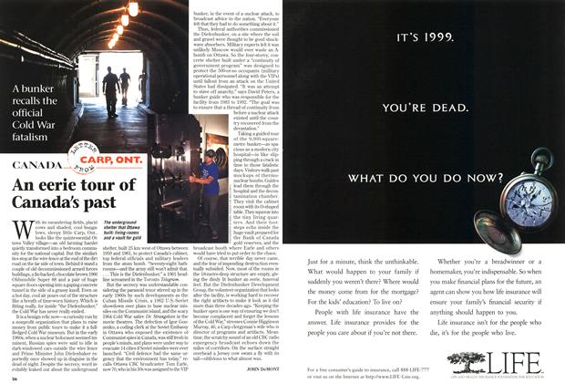 Article Preview: An eerie tour of Canada's past, August 1997   Maclean's