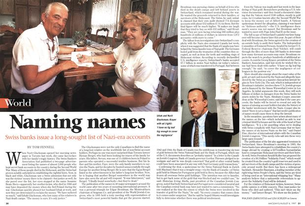 Article Preview: Naming names, August 1997 | Maclean's