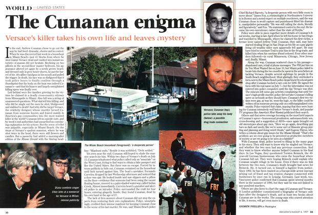 Article Preview: The Cunanan enigma, August 1997 | Maclean's
