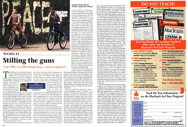 Article Preview: Stilling the guns, August 1997 | Maclean's
