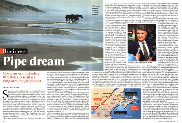 Article Preview: Pipe dream, August 1997 | Maclean's