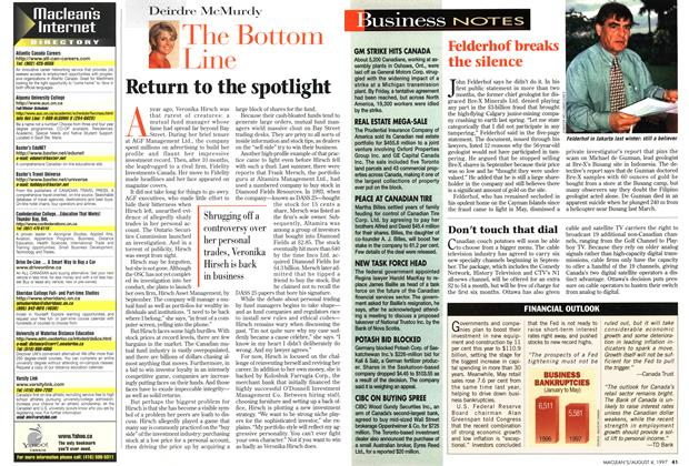Article Preview: Return to the spotlight, August 1997 | Maclean's
