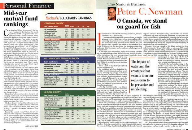 Article Preview: O Canada, we stand on guard for fish, August 1997 | Maclean's