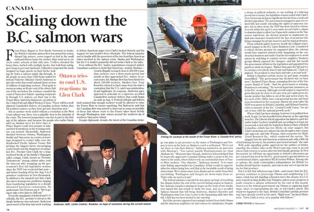 Article Preview: Scaling down the B.C. salmon wars, August 1997 | Maclean's