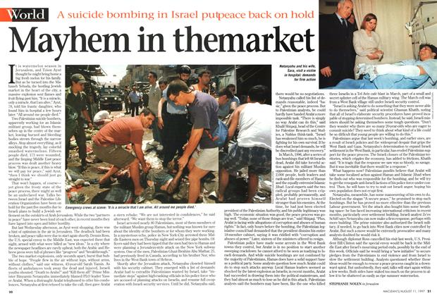 Article Preview: Mayhem in the market, August 1997 | Maclean's