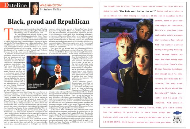 Article Preview: Black, proud and Republican, August 1997 | Maclean's