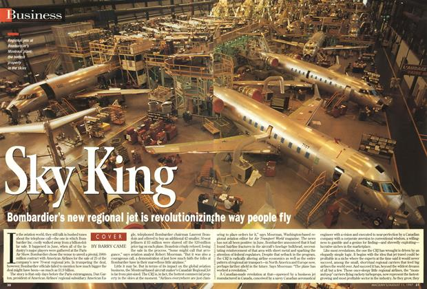 Article Preview: Sky King, August 1997 | Maclean's