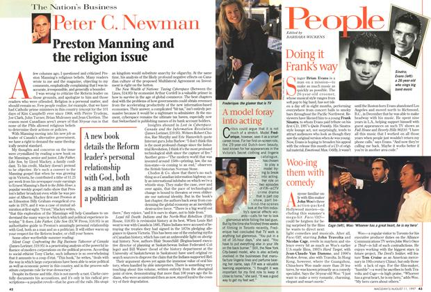 Article Preview: Doing it Frank's way, August 1997 | Maclean's