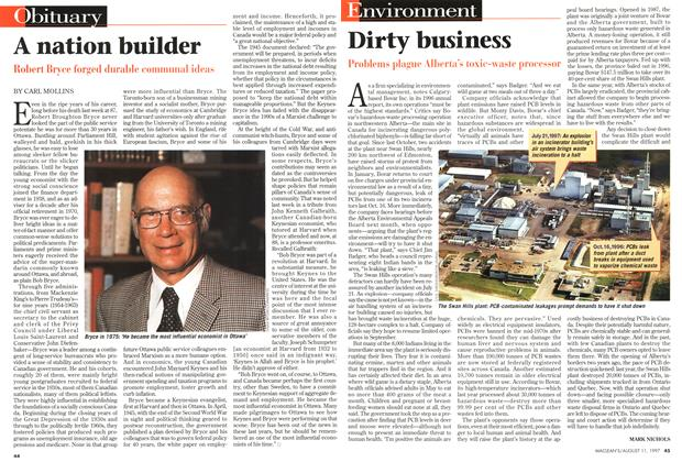 Article Preview: A nation builder, August 1997 | Maclean's