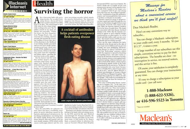 Article Preview: Surviving the horror, August 1997 | Maclean's
