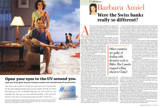 Article Preview: Were the Swiss banks really so different?, August 1997 | Maclean's