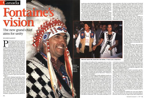 Article Preview: Fontaine's vision, August 1997 | Maclean's
