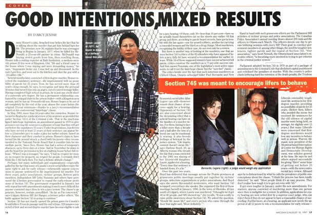 Article Preview: GOOD INTENTIONS, MIXED RESULTS, August 1997 | Maclean's