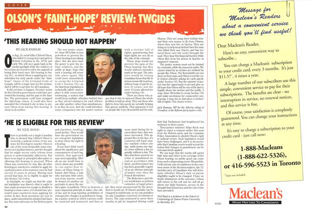 Article Preview: 'THIS HEARING SHOULD NOT HAPPEN', August 1997 | Maclean's