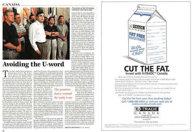 Article Preview: Avoiding the U-word, August 1997 | Maclean's
