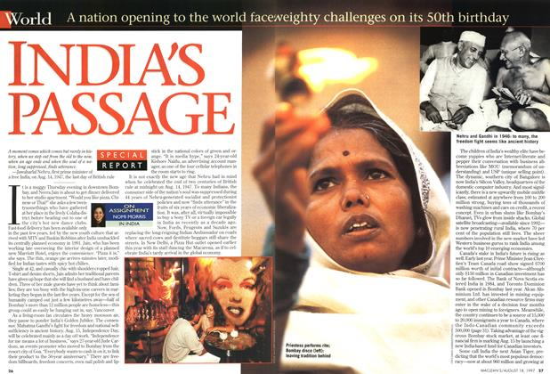 Article Preview: INDIA'S PASSAGE, August 1997 | Maclean's