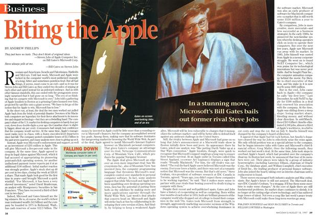 Article Preview: Biting the Apple, August 1997 | Maclean's