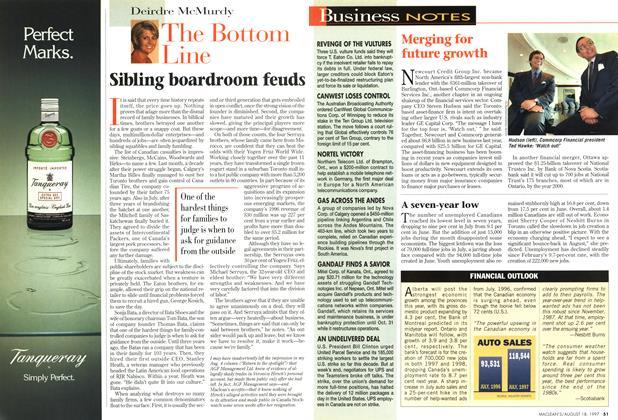 Article Preview: Sibling boardroom feuds, August 1997 | Maclean's