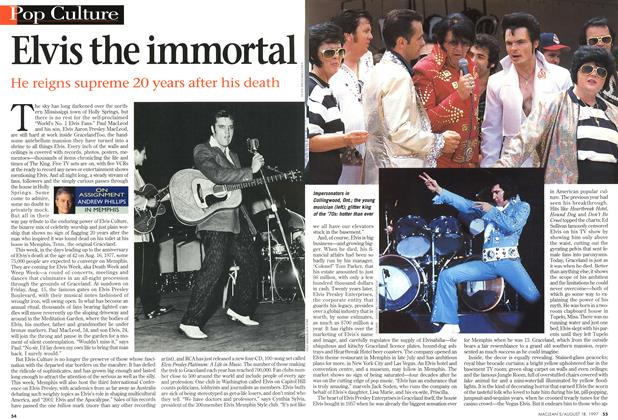 Article Preview: Elvis the immortal, August 1997 | Maclean's