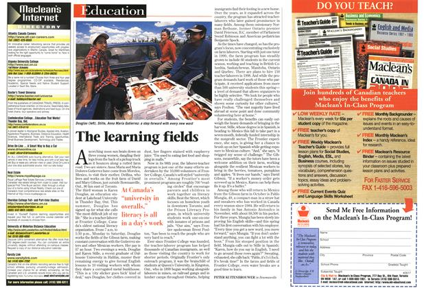 Article Preview: The learning fields, August 1997 | Maclean's