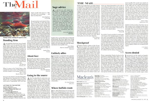 Article Preview: The Mail, August 1997 | Maclean's