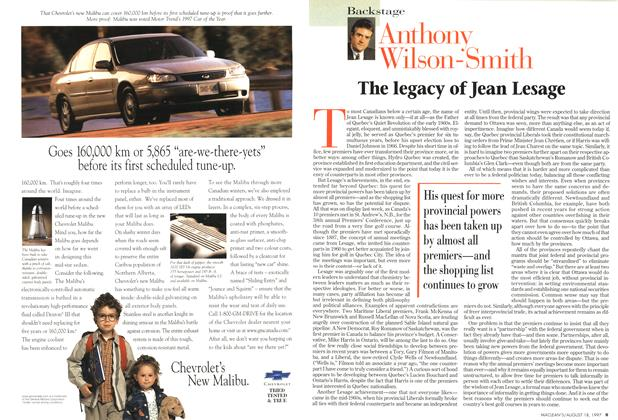 Article Preview: The legacy of Jean Lesage, August 1997 | Maclean's