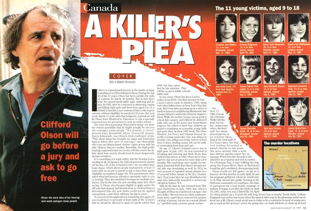 Article Preview: A KILLER'S PLEA, August 1997 | Maclean's