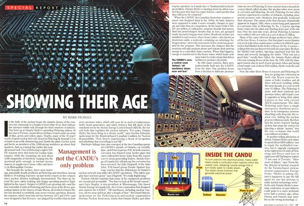 Article Preview: SHOWING THEIR AGE, August 1997 | Maclean's