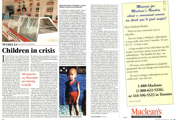 Article Preview: Children in crisis, August 1997 | Maclean's