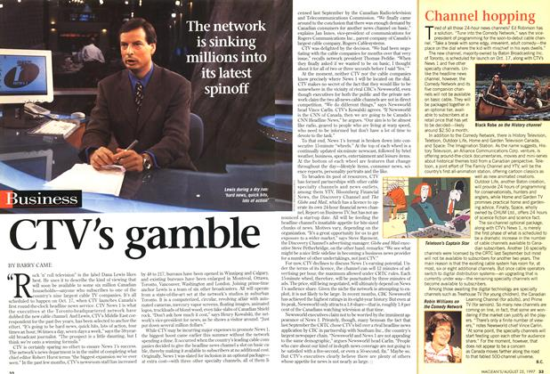 Article Preview: CTV's gamble, August 1997 | Maclean's
