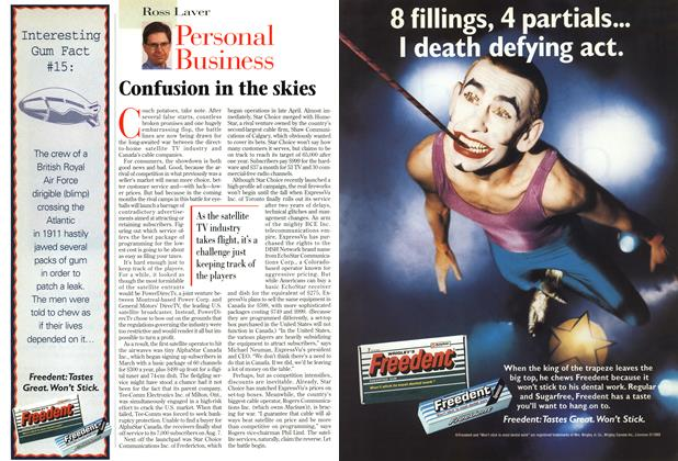 Article Preview: Confusion in the skies, August 1997 | Maclean's