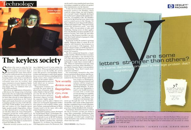 Article Preview: The keyless society, August 1997 | Maclean's