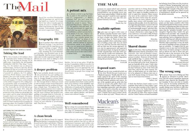 Article Preview: TheMail, August 1997 | Maclean's