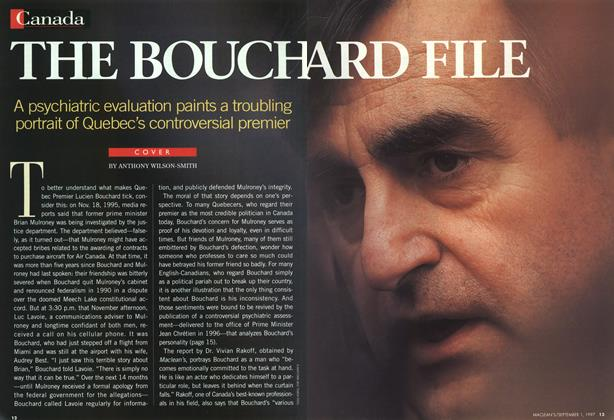Article Preview: THE BOUCH ARD FILE, September 1997 | Maclean's