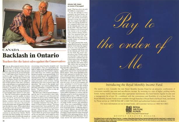 Article Preview: Backlash in Ontario, September 1997 | Maclean's