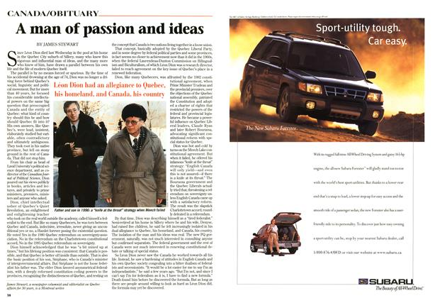 Article Preview: A man of passion and ideas, September 1997 | Maclean's