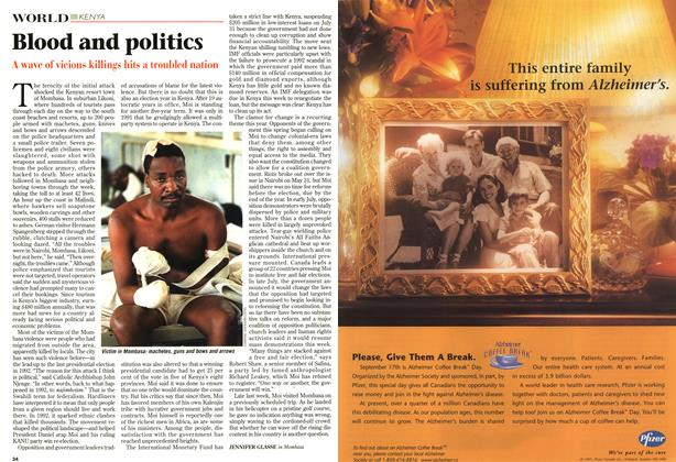 Article Preview: Blood and politics, September 1997 | Maclean's