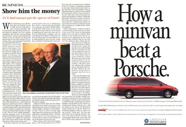 Article Preview: Show him the money, September 1997 | Maclean's