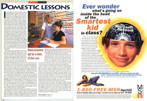 Article Preview: DOMESTIC LESSONS, September 1997 | Maclean's