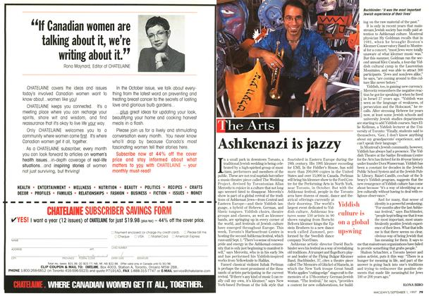 Article Preview: Ashkenazi is jazzy, September 1997 | Maclean's