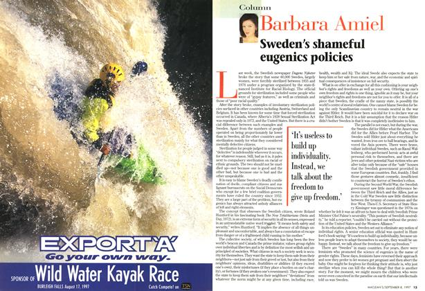 Article Preview: Barbara Amiel, SEPTEMBER 8,1997 1997 | Maclean's