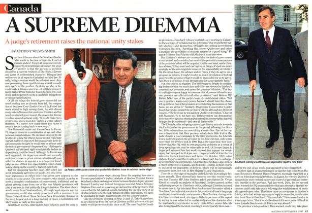 Article Preview: A SUPREME DILEMMA, SEPTEMBER 8,1997 1997 | Maclean's